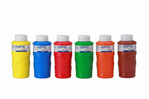 Giotto Fingerfarbe Aktionspaket, 6 x 750 ml