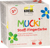 MUCKI Stoff-Fingerfarbe, 4er-Set - 4 x 150 ml